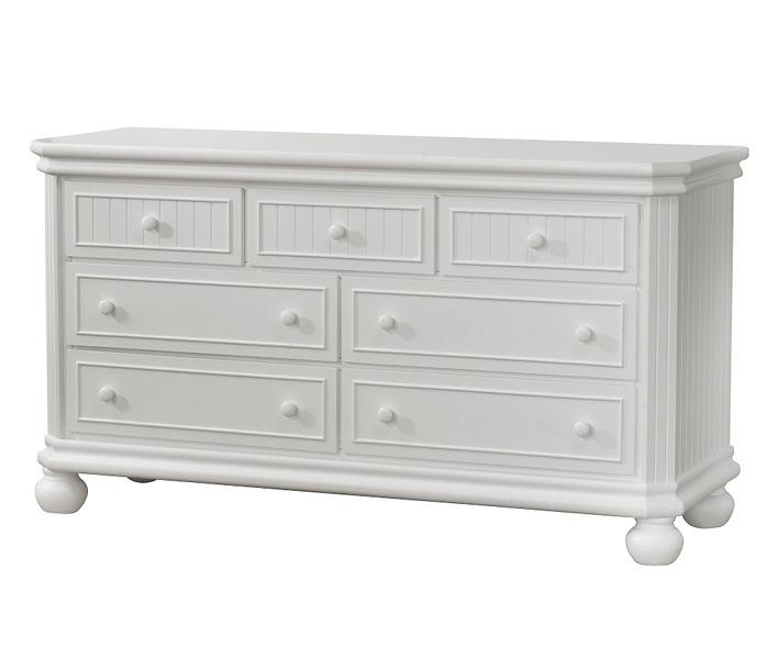 Finley Collection Double Dresser in White