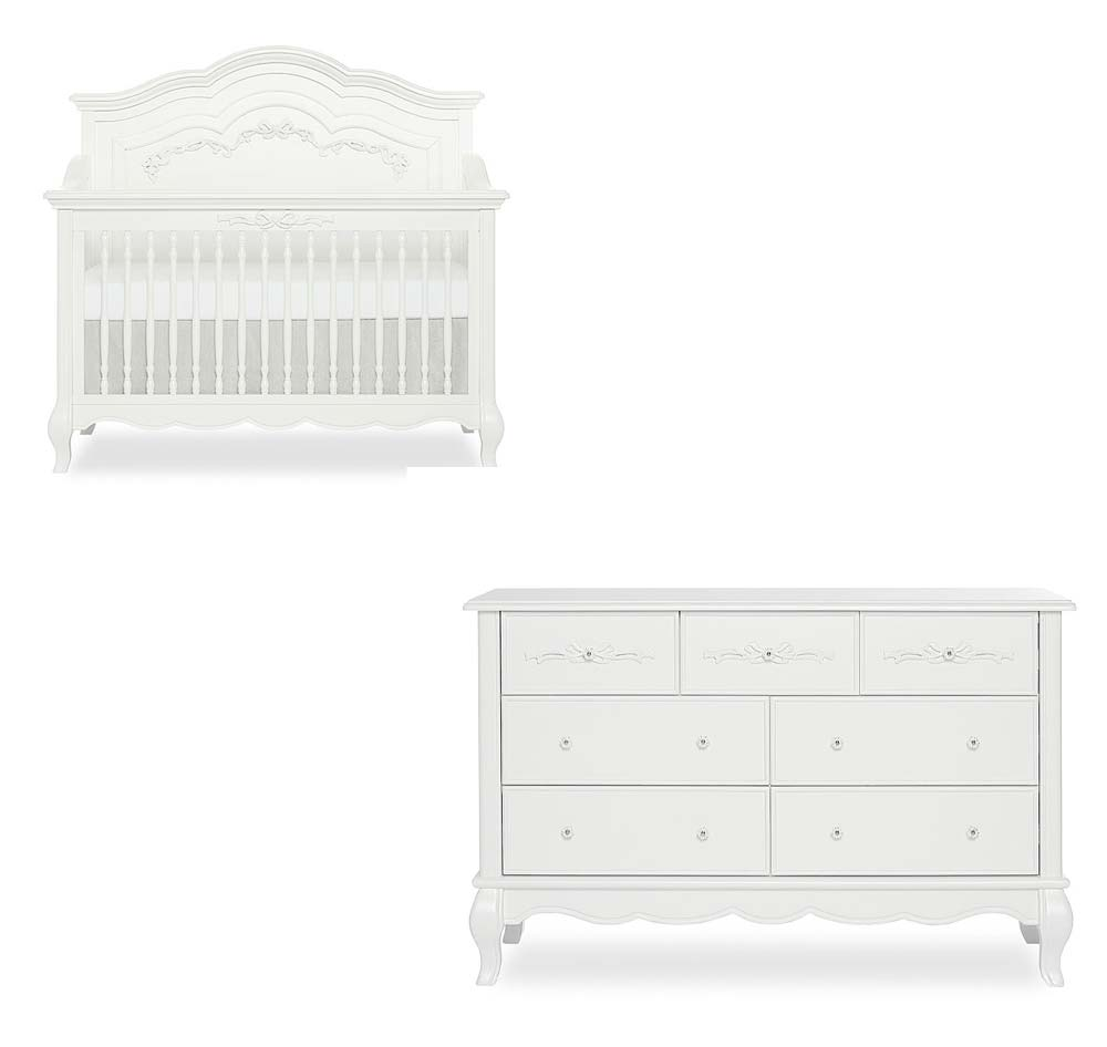 Aurora 2 Piece Set: Crib and Double Dresser
