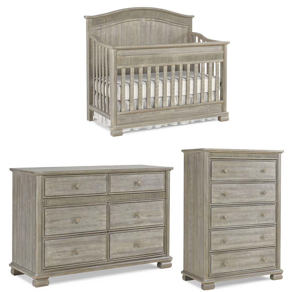 Florenza Crib, Double Dresser and Chest
