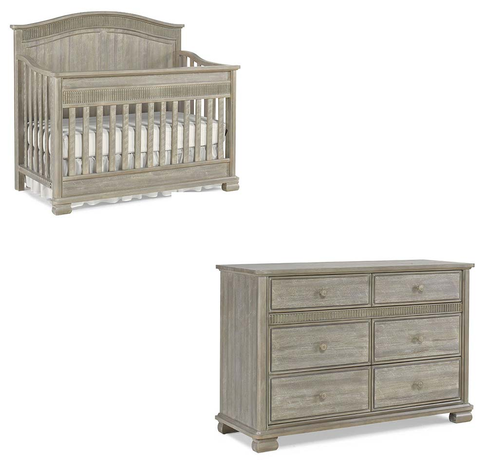 Florenza Crib and Double Dresser