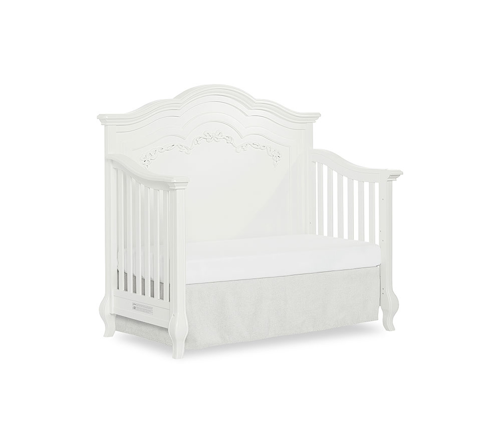 Evolur Aurora Convertible Crib Day Bed in Frost White