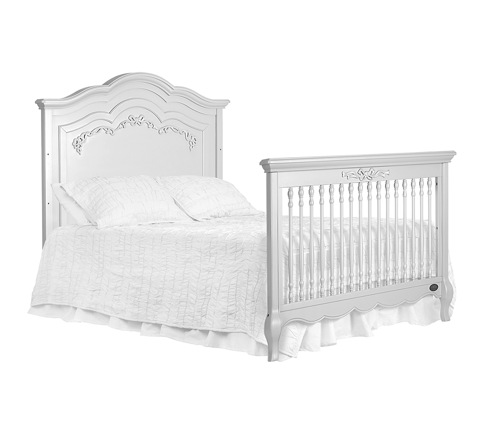 Evolur Aurora Convertible Crib Bed 2 in Akoya Grey