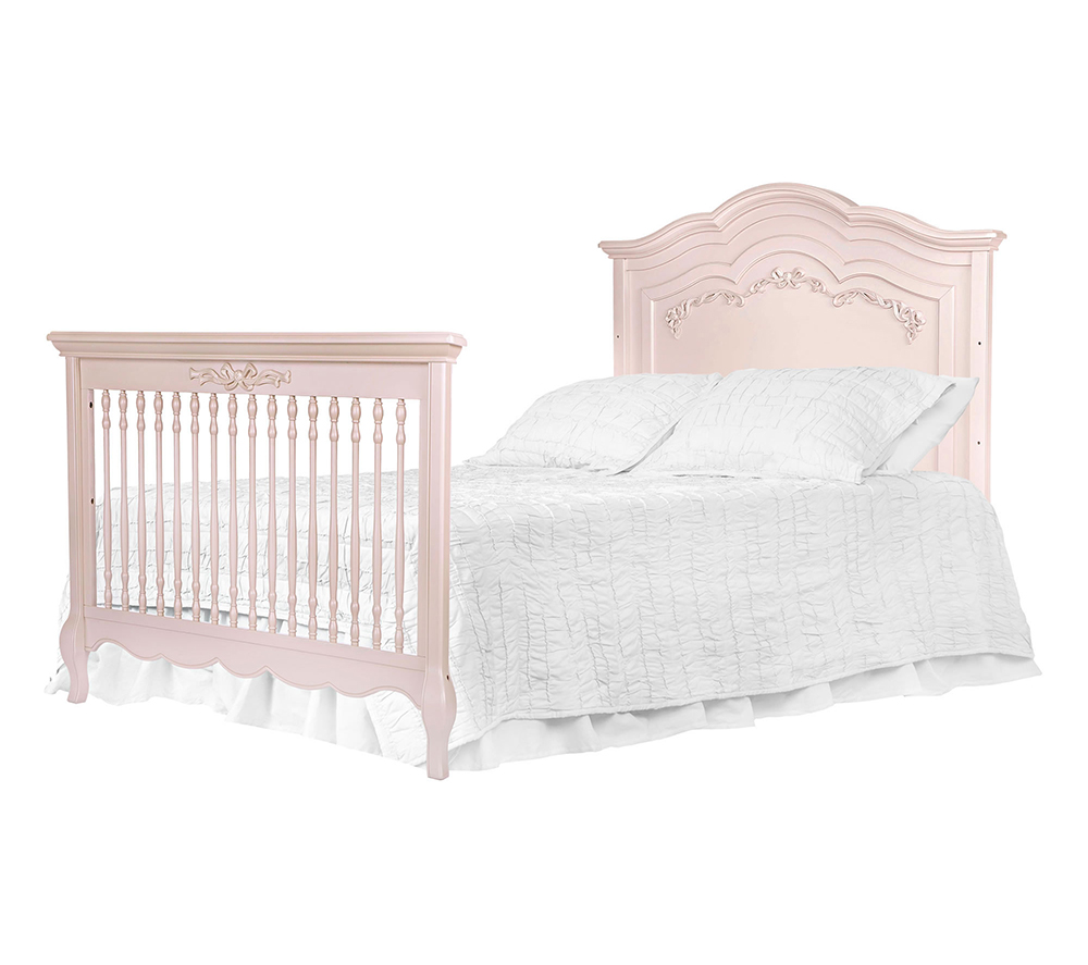 Evolur Aurora Convertible Crib Bed in Blush Pink