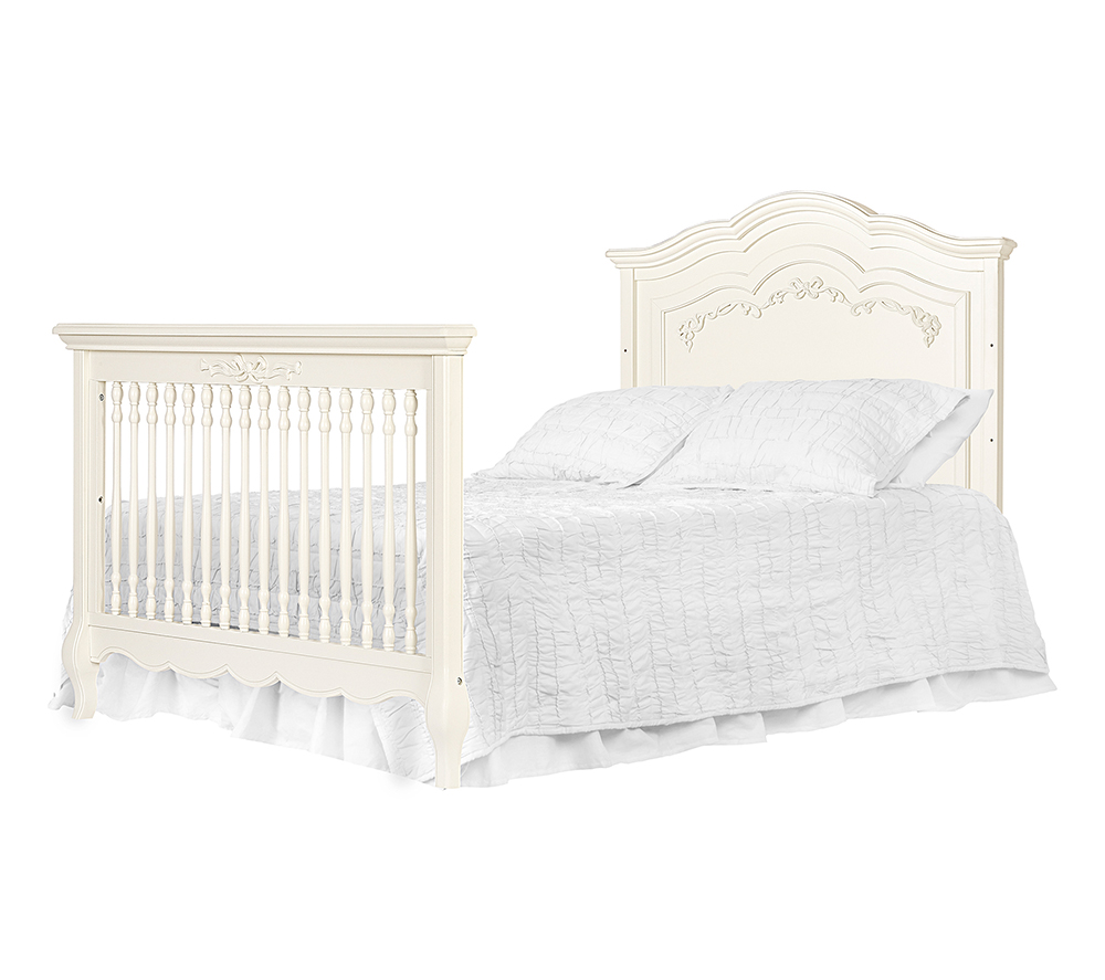 Evolur Aurora Convertible Crib Bed in Ivory Lace