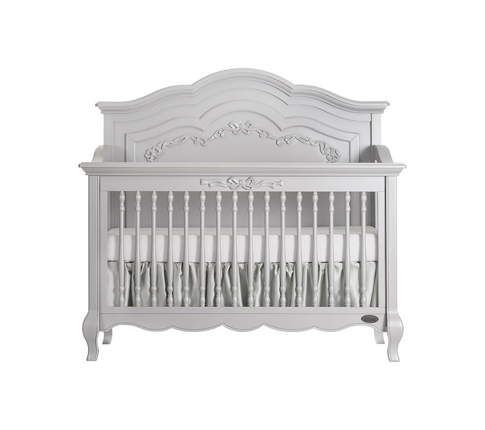 Evolur Aurora Convertible Crib Front in Akoya Grey