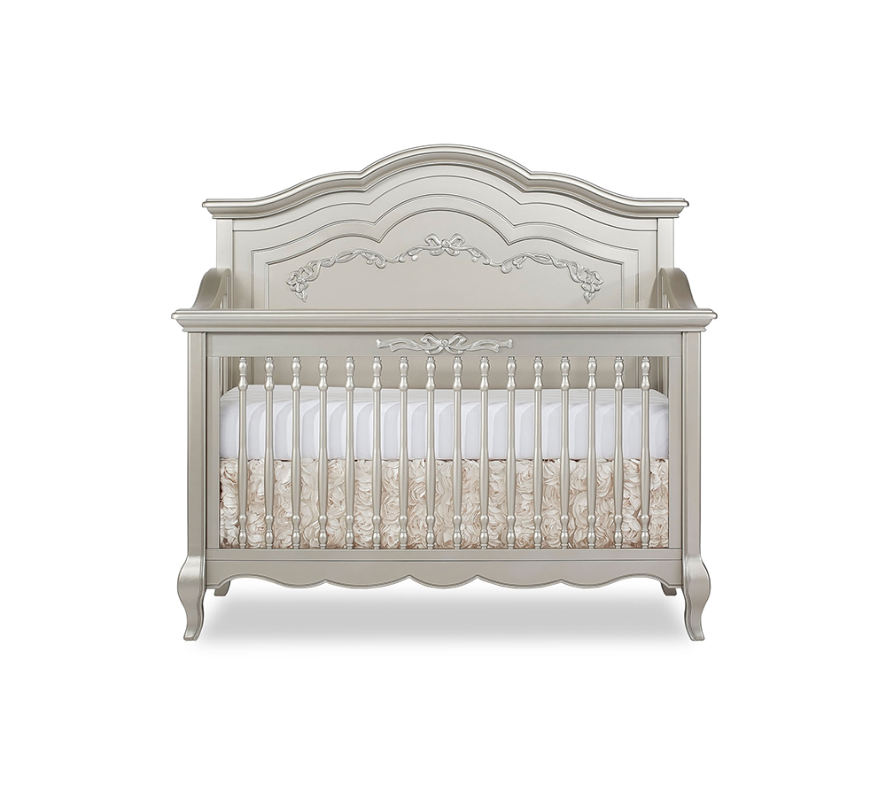 Evolur Aurora Convertible Crib Front in Gold Dust