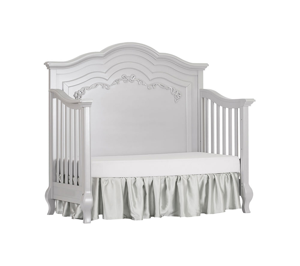 Evolur Aurora Convertible Crib Day Bed in Akoya Grey