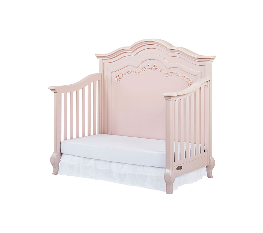 Evolur Aurora Convertible Crib Day Bed in Blush Pink