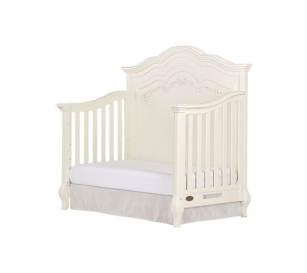 Evolur Aurora Convertible Crib Day Bed in Ivory Lace