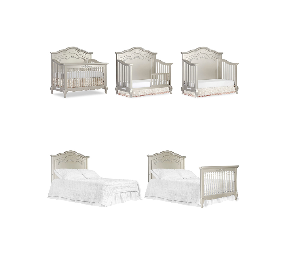Evolur Aurora Convertible Crib Stages in Gold Dust