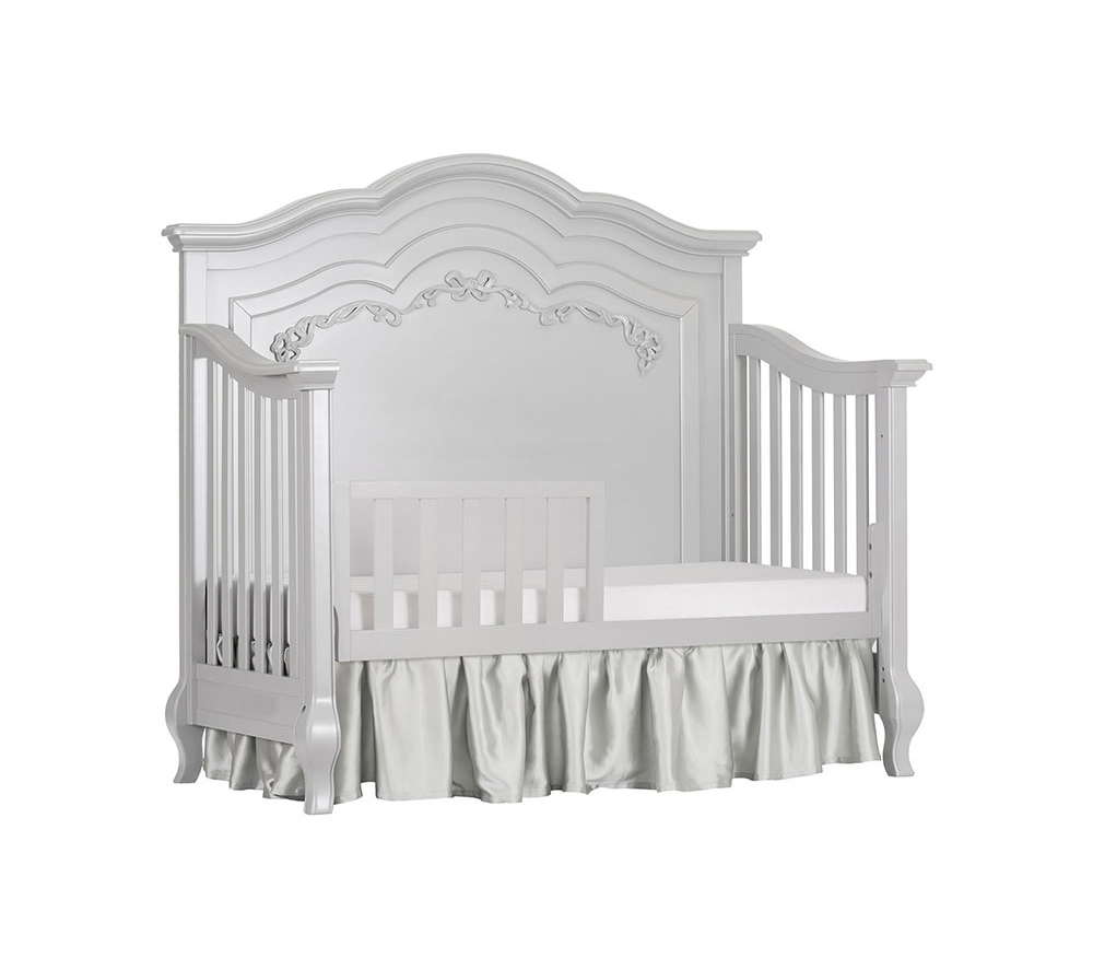 Evolur Aurora Convertible Crib Toddler Bed in Akoya Grey