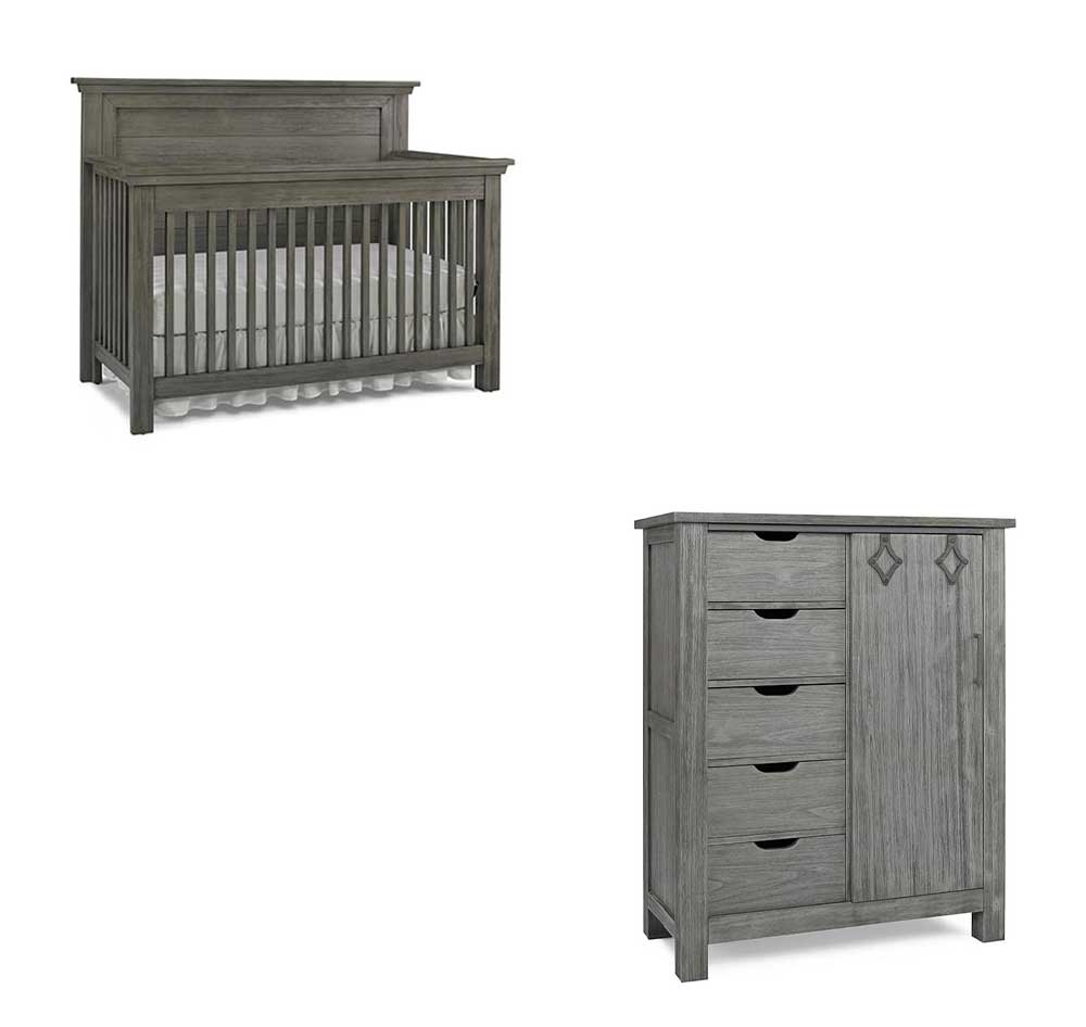 Lucca Flat Panel Crib and Chifferobe