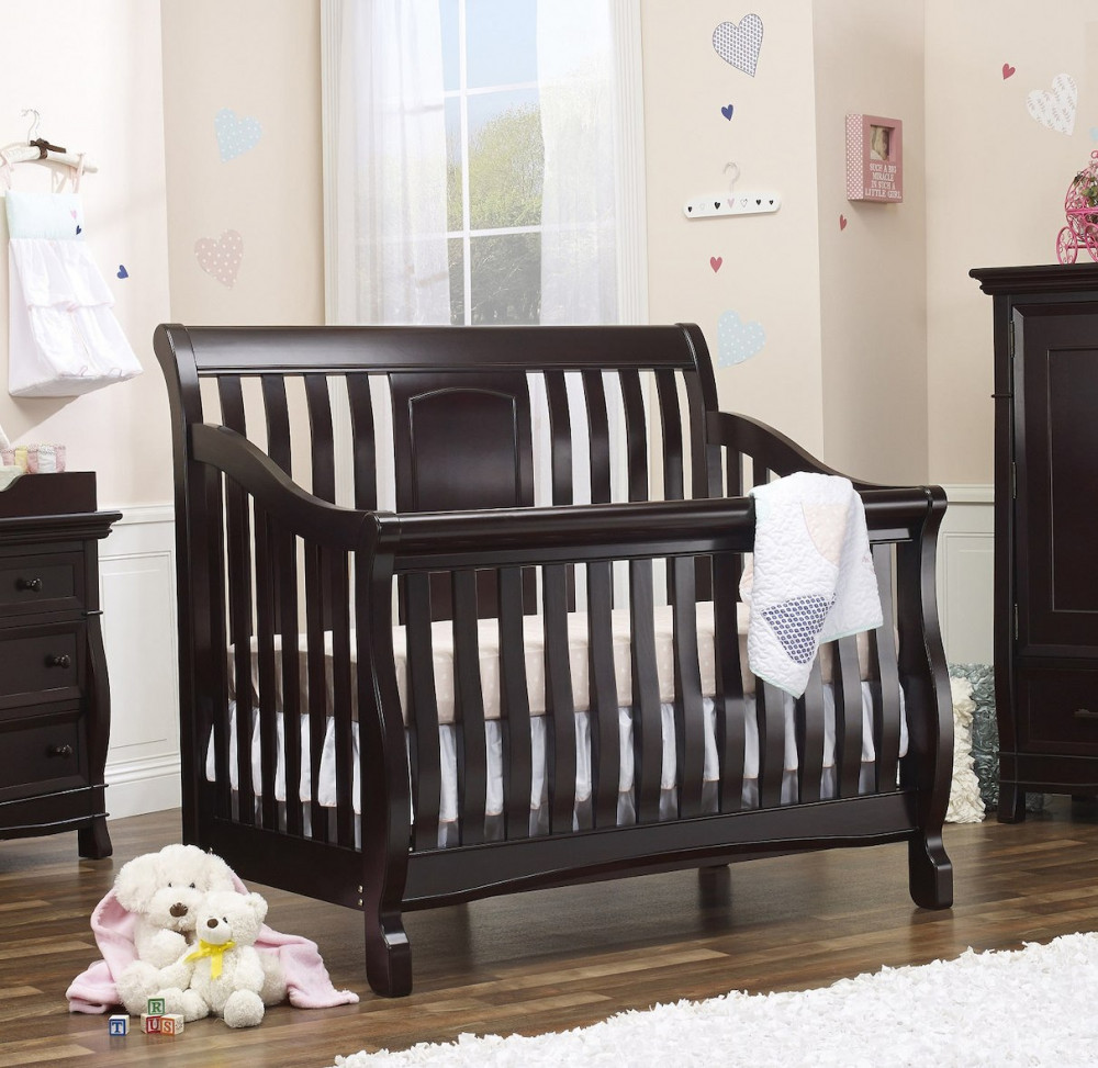 Montgomery 4 in 1 Convertible Crib in Espresso Room