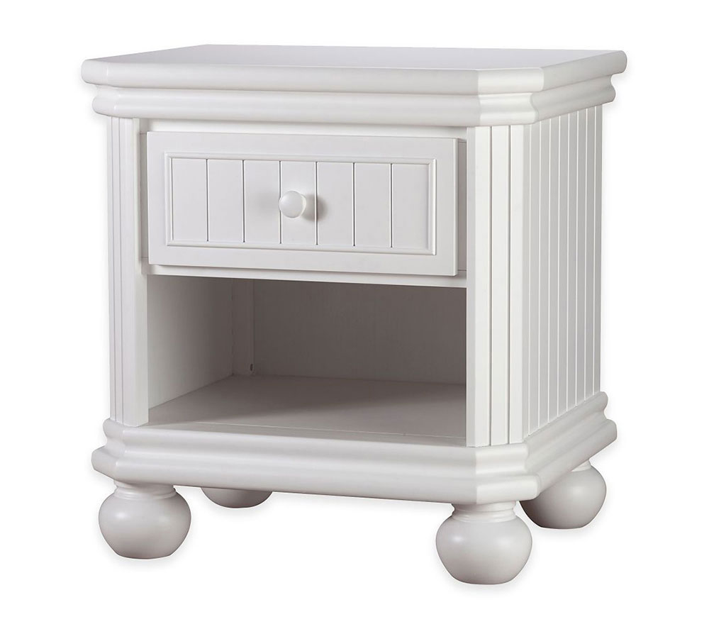 Finley Collection Nightstand in White
