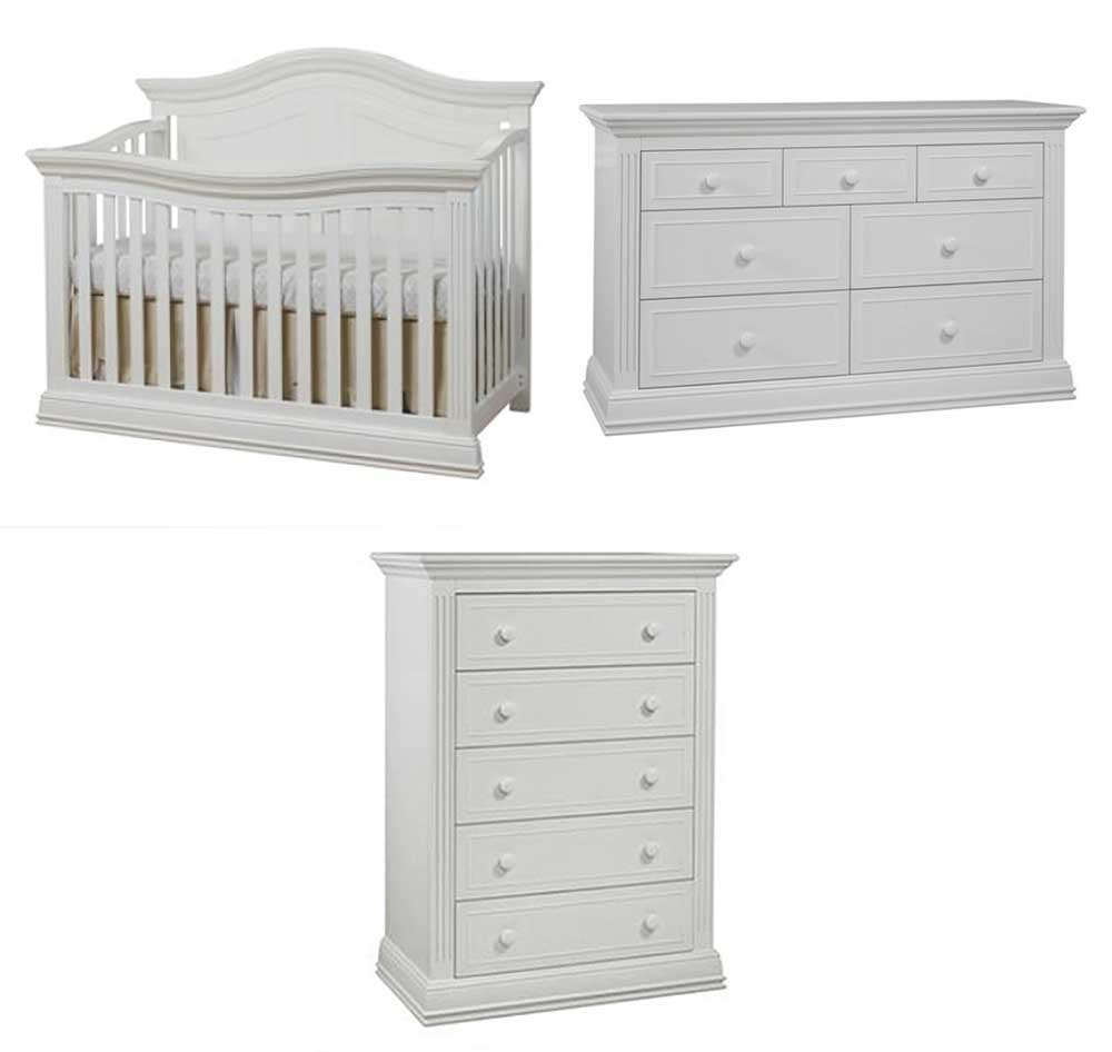 Providence 3 Piece Set: Crib, Double Dresser and Chest