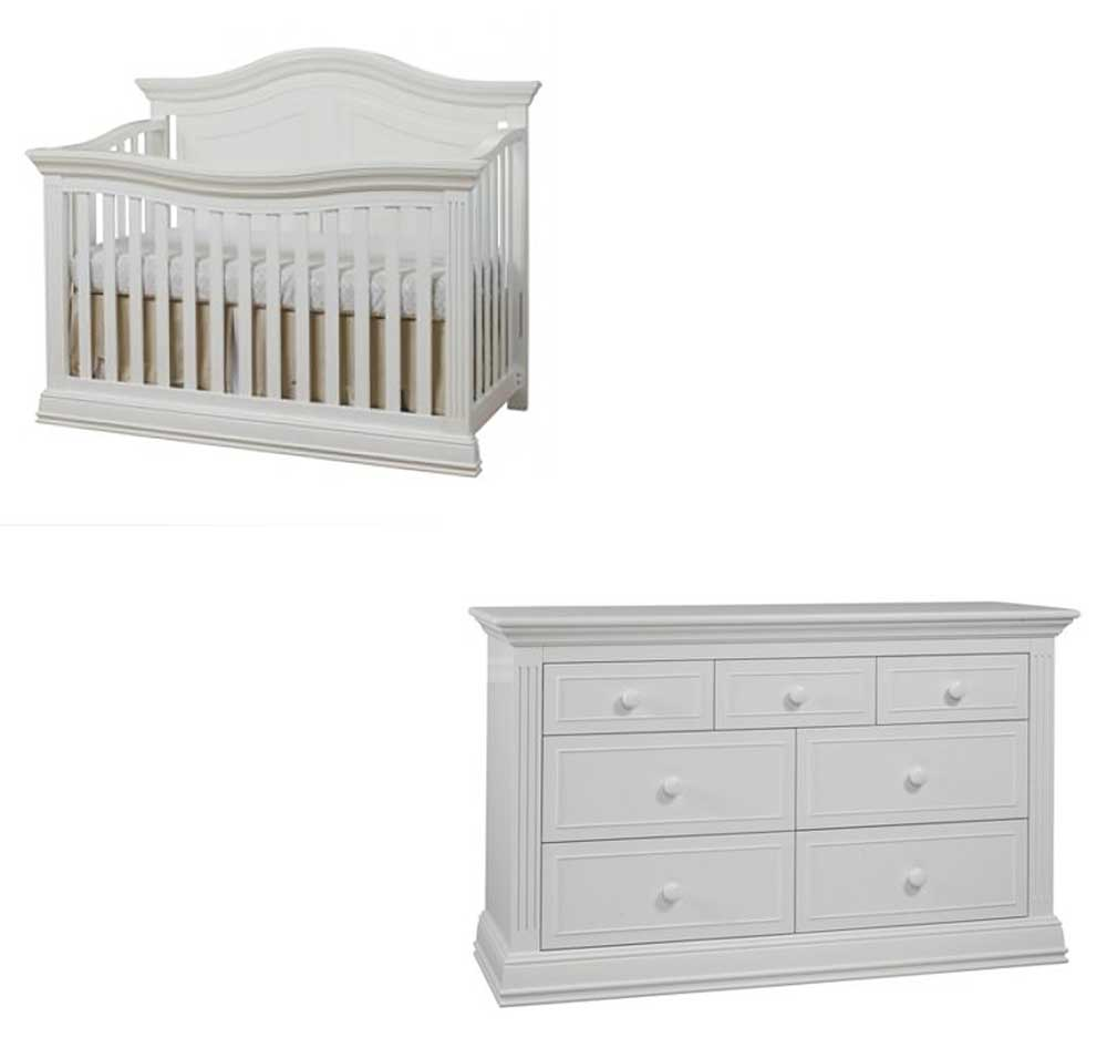 Providence 2 Piece Set: Crib and Double Dresser